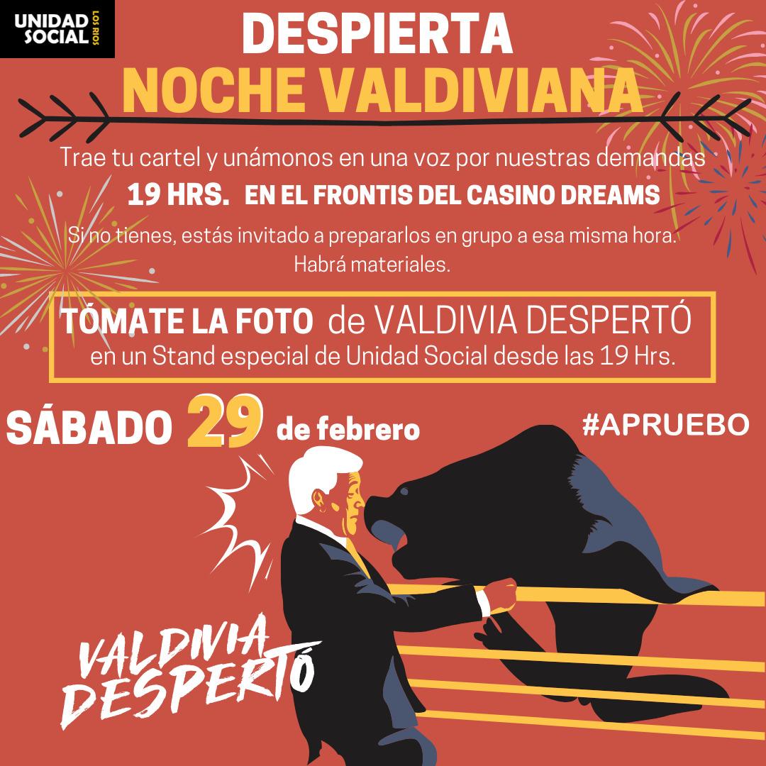 Stand de Unidad Social en Noche Valdiviana – 29 de febrero.
