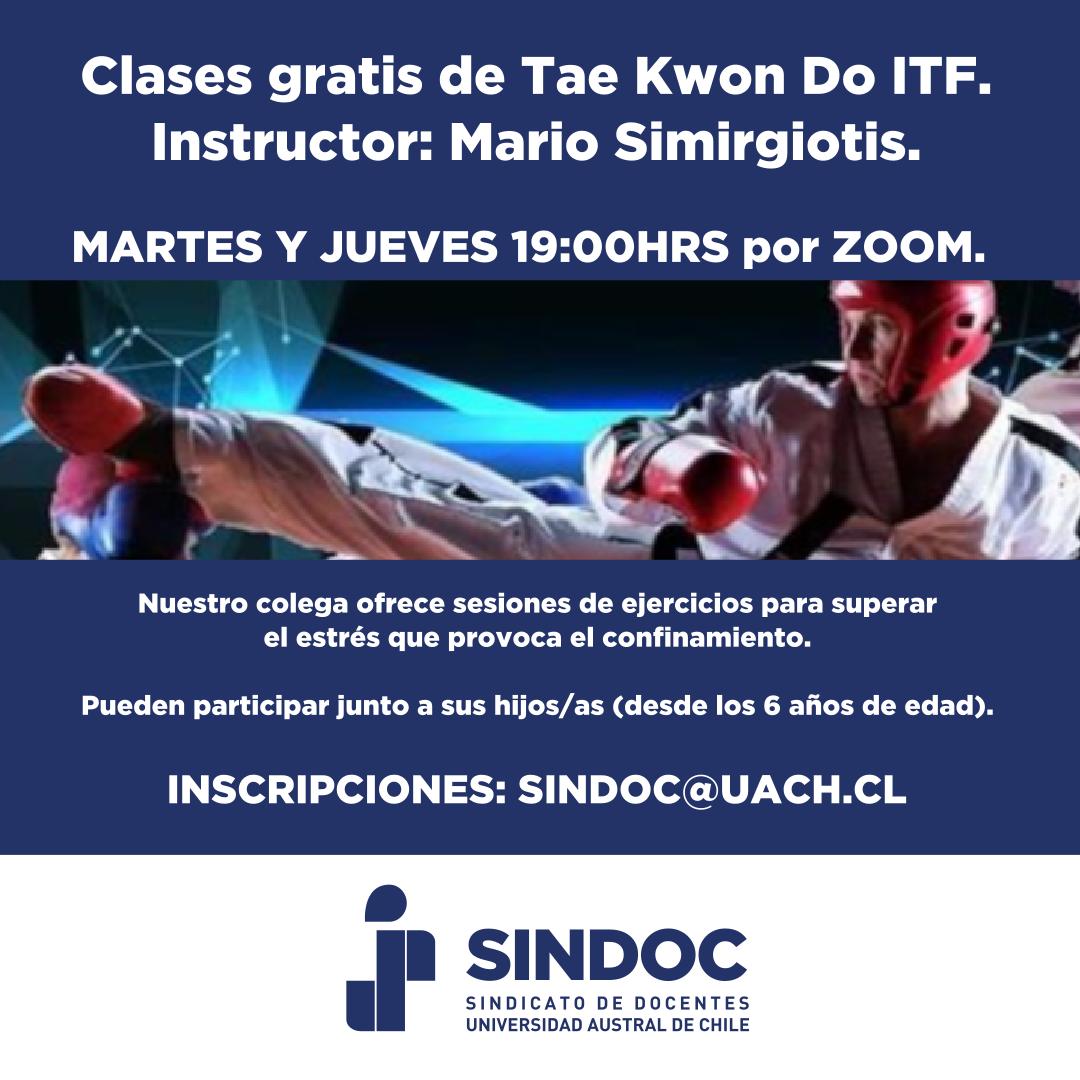 Clases gratuitas de Taekwon Do ITF.