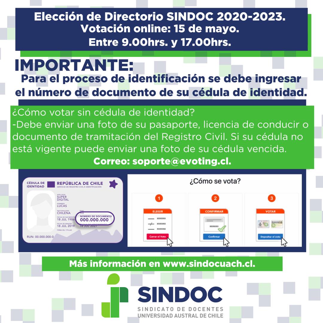 ¿Cómo se vota en la elección del Directorio SINDOC 2020-2023?