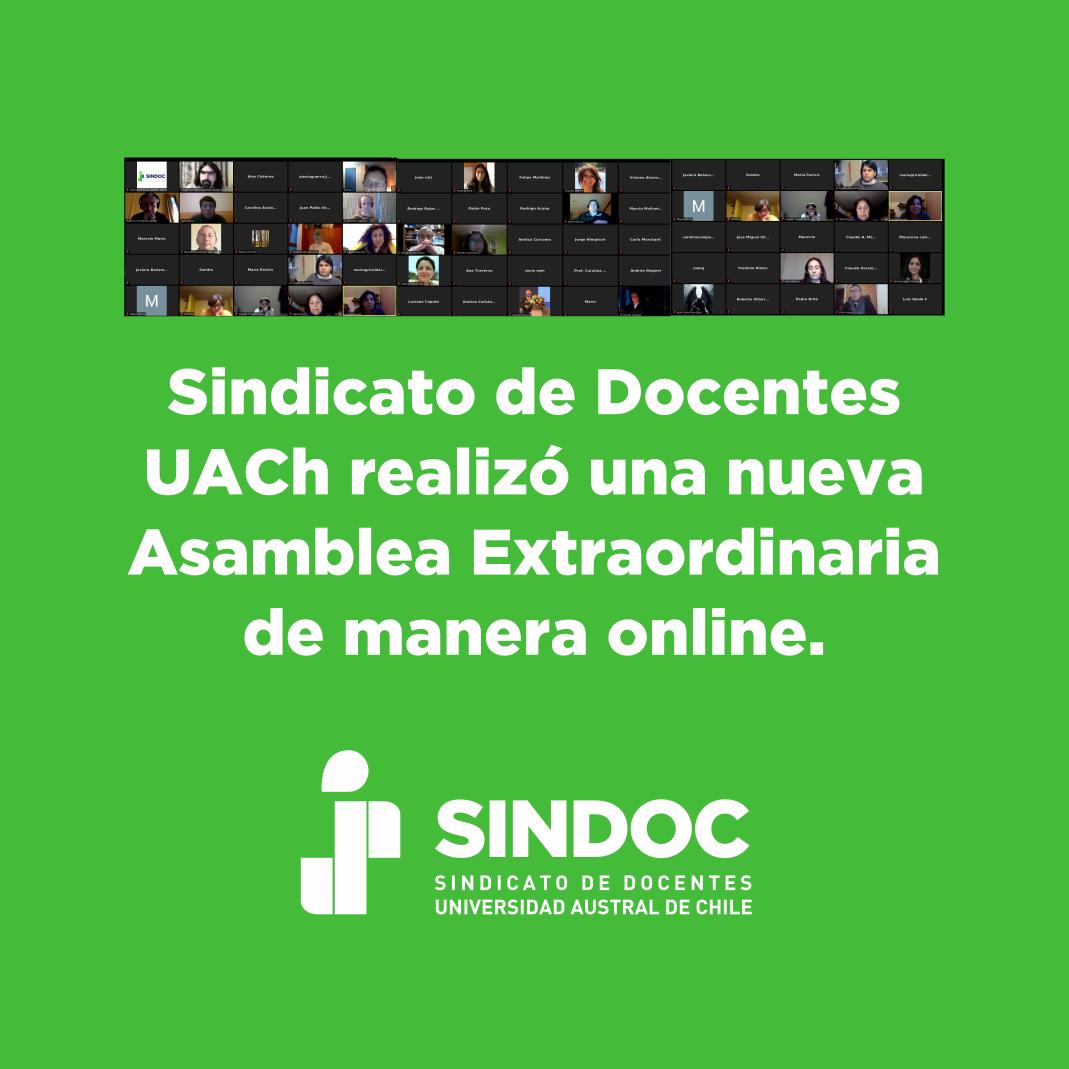 Resumen informativo de Asamblea Extraordinaria online realizada el martes 05 de mayo.
