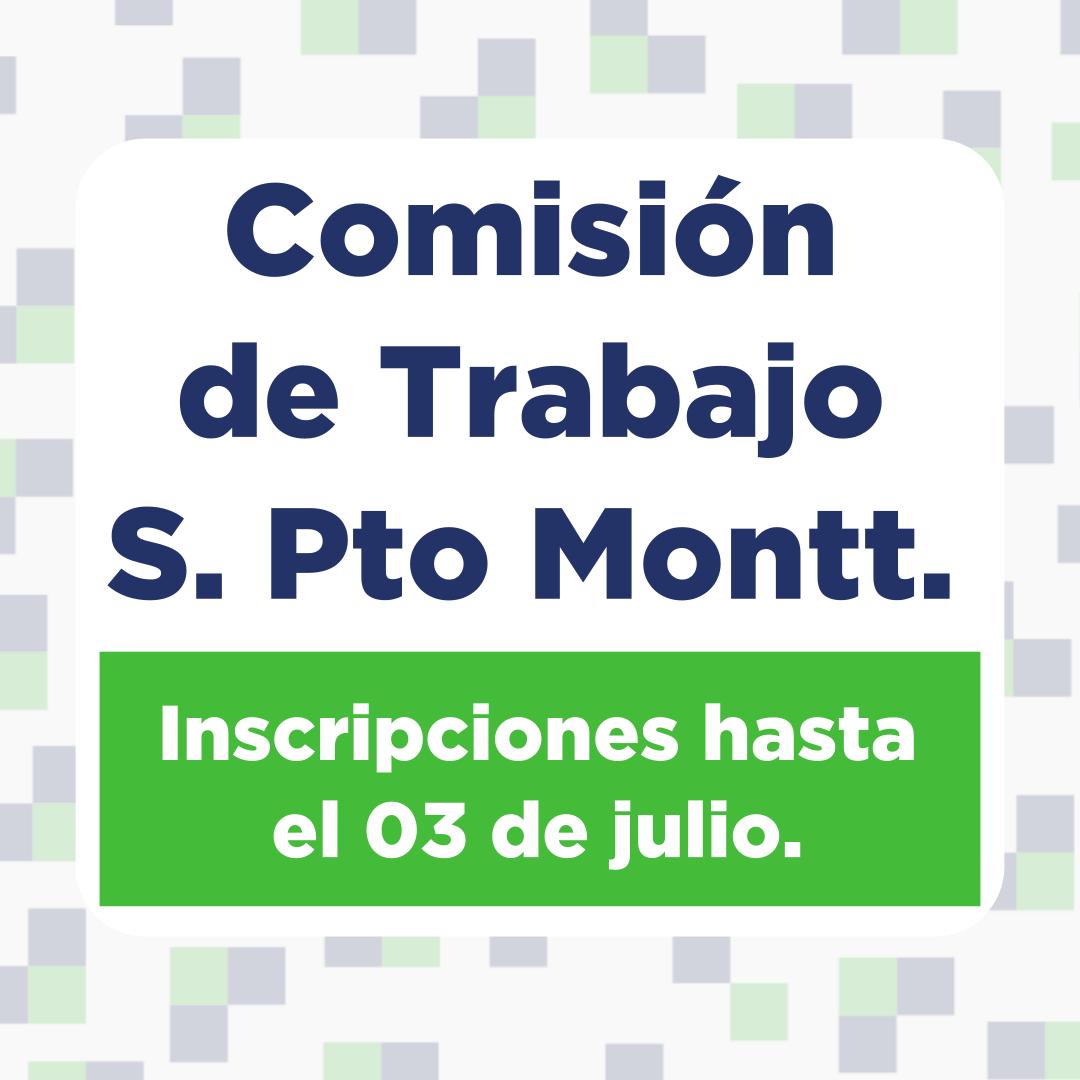 Inscripciones abiertas para integrar Comisión de Trabajo Sede Pto. Montt SINDOC.
