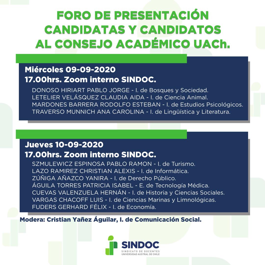 Foro de presentación candidatas y candidatos al Consejo Académico UACh.