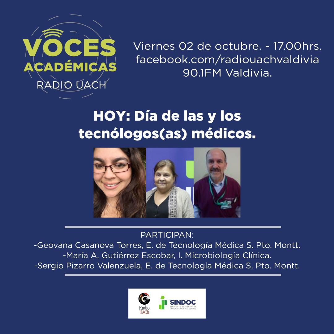 Voces Académicas (2 de octubre 2020): Día de las y los tecnólogas(os) médicos en Chile.