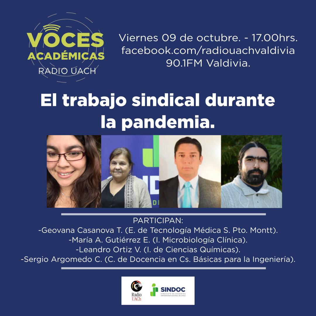 Voces Académicas (9 de octubre 2020): El trabajo sindical durante la pandemia.