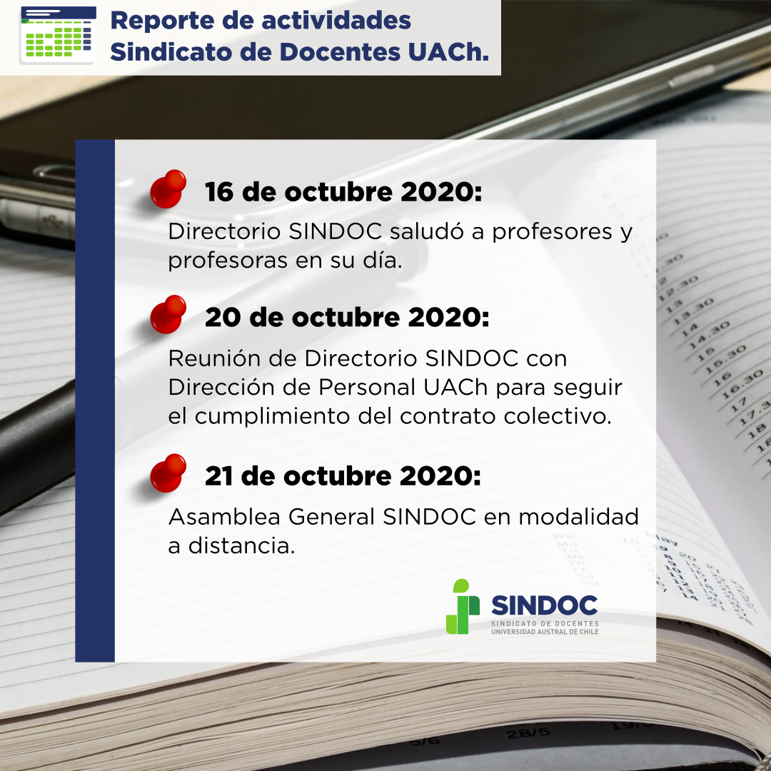 Breve reporte con las últimas actividades del Sindicato de Docentes UACh.