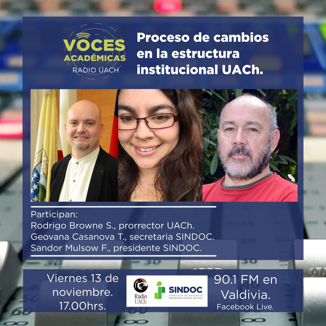 Voces Académicas (13 nov.): Revisión de la normativa y los estatutos de la UACh.