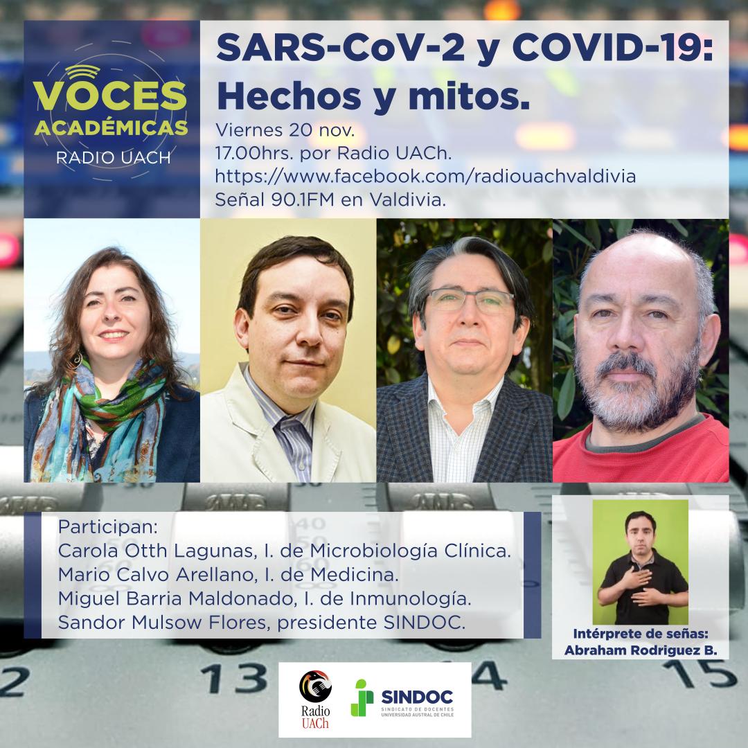 Voces Académicas (20 nov.): SARS-CoV-2 y COVID-19.