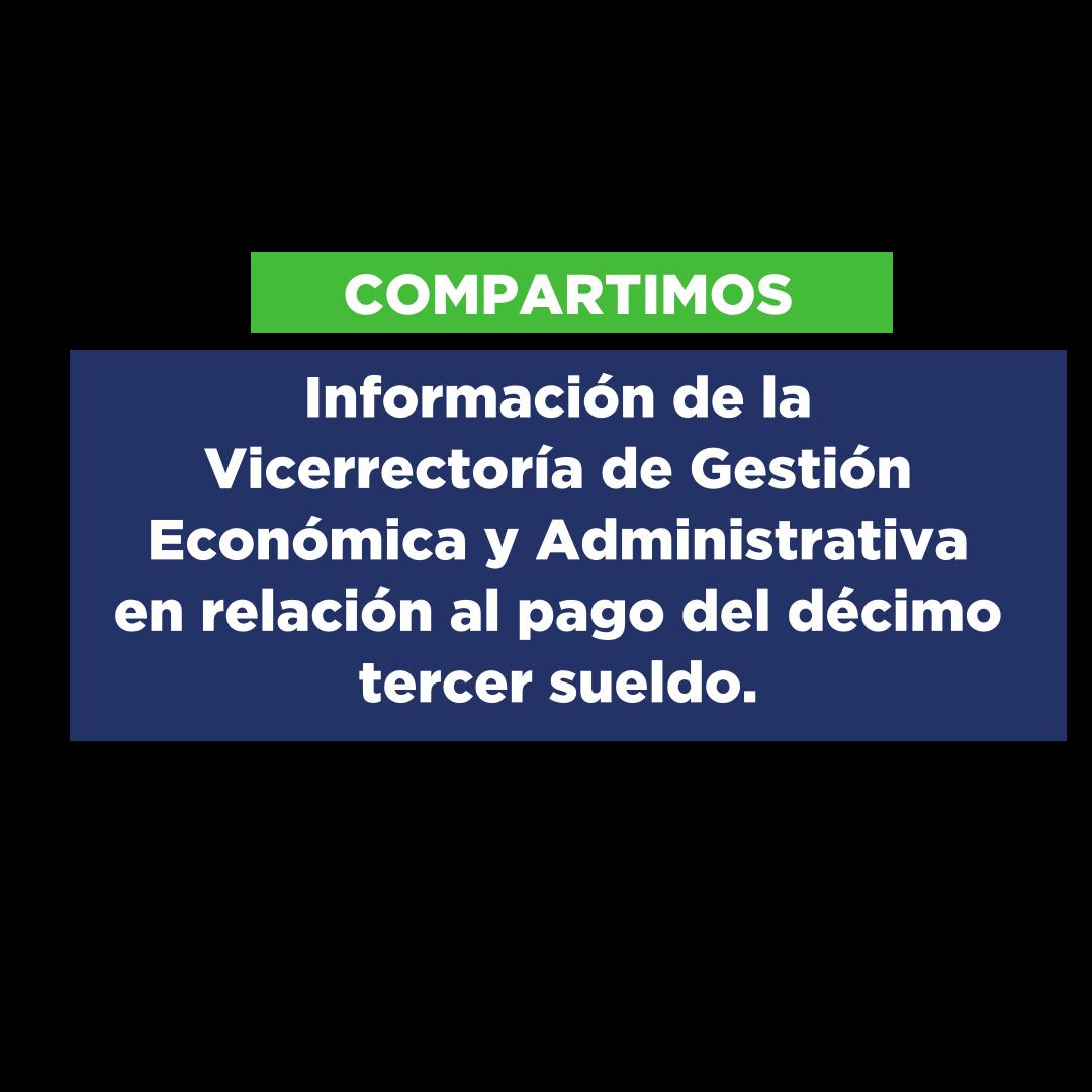 Información enviada desde la Vicerrectoría de Gestión Económica y Administrativa