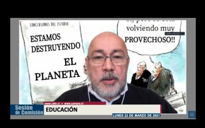 """Presidente del SINDOC participó en sesión de Comisión de Educación de la Cámara que analizó """"la compleja situación que atraviesa la UACh""""."""