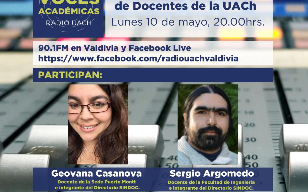 VOCES ACADÉMICAS / 10 DE MAYO 2021 (Informativo SINDOC).