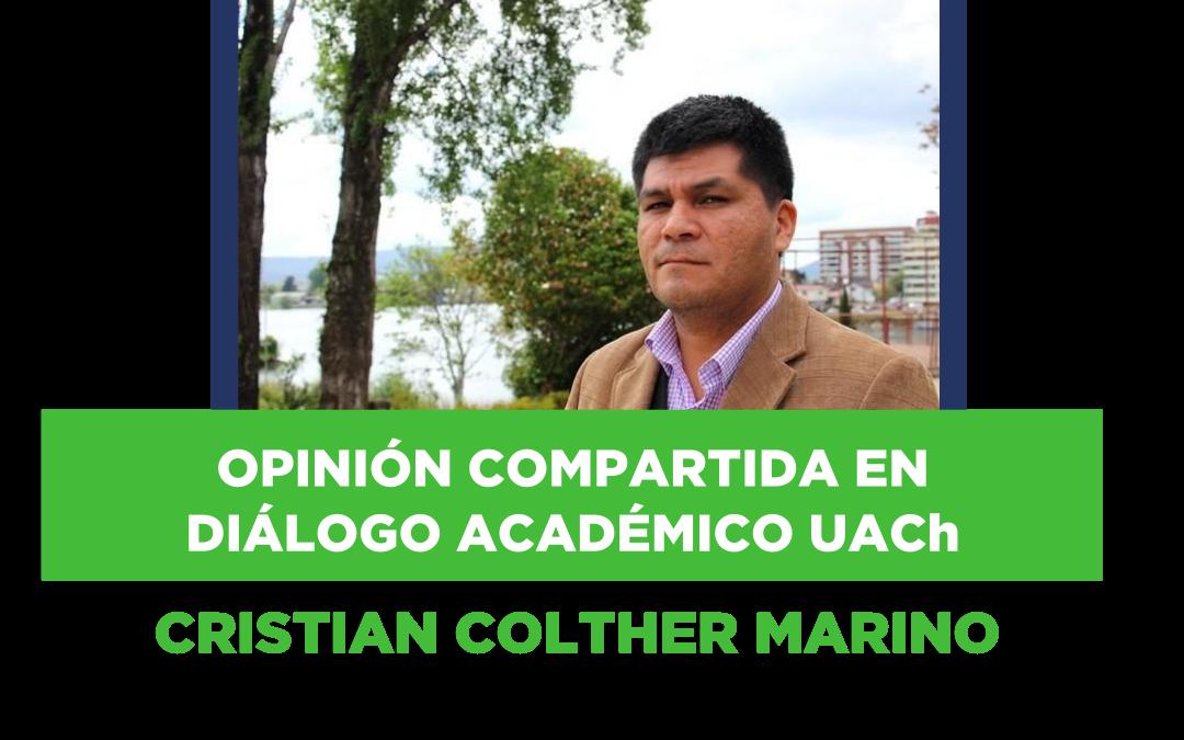 Mensaje en Diálogo Académico compartido por asociado CRISTIAN MAURICIO COLTHER MARINO
