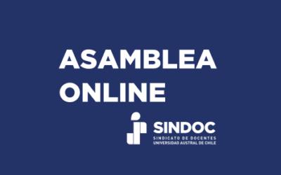 ASAMBLEA ONLINE: MIÉRCOLES 6 DE OCTUBRE